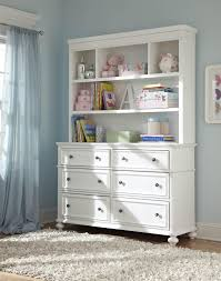 Legacy Classic Kids Madison Classic Dresser with 6 Drawers and Bookcase  Hutch / Nursery Changing Station with Hutch - Belfort Furniture - Bookcase  - 2 Pc. ...