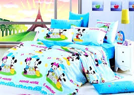 mouse twin bedroom set blue mickey and bedding sets minnie home improvement shows on