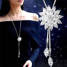 <b>1pc Luxury</b> Silver Plated Crystal Appealing Crystal <b>Zircon</b> Snowflake ...