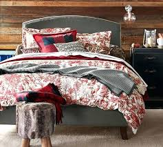 red toile quilt red toile bedding king red toile quilt