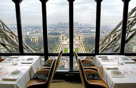 dining with eiffel tower view. jules verne dining with eiffel tower view w