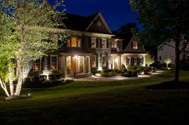 images of outdoor lighting. Lighting (Front Foundation) Up-lighting On Trees, Path Lights And Up- To Wash Foundation Of House Images Outdoor