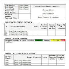 Status Report Format Status Report Example Rome Fontanacountryinn Com
