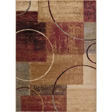 elg5430 5x7 5 x 7 medium red gray blue and beige area rug