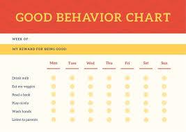 Reward Chart Template Toddler Red Header Behavior Toddlers Reward Chart Templates By Canva