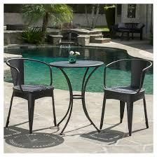 black iron outdoor furniture.  iron lourdes 3pc cast iron patio bistro set  black sand christopher knight  home for outdoor furniture r