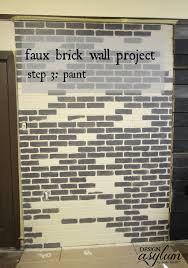 how to make faux brick walls look old