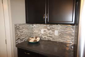 Kitchen Backsplash Glass Tile Glass Loft Titanium Clay Mix Mosaic Aceent Tile For The Kitchen