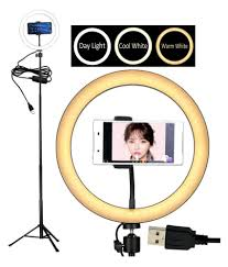 Selfie Ring Light For Makeup Auslese 10inch Selfie Ring Light With 3 Light Mode Tripod Stand Cell Phone Holder Makeup Ring Light Kit For Tik Tok Videos Black And Pink