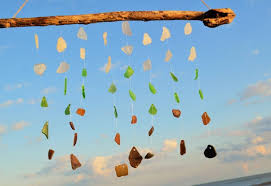 sea glass wind chime gift idea for housewarming beach loving friends present idea for the person who has everything