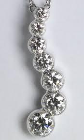 18k white gold invisible setting round cut 7 stone diamond pendant 0 8 ct g color vs clarity cost 1 468 80