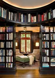 Furniture: Small Home Library With Ladder - Home Library Design