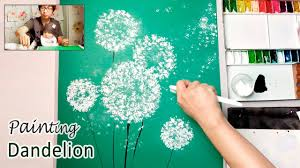 dandelion painting techniques for beginners easy creative art projects