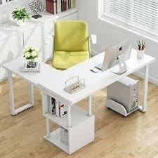 home office writing desk. Tribesigns Modern L-Shaped Desk, 360° Free Rotating Corner Computer Desk  Writing Home Office Writing Desk F
