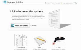 Resume Builder Linkedin Resume Templates