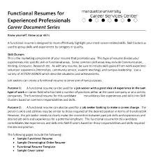 functional resume format example free functional resume template creer pro
