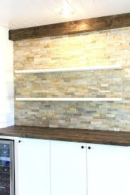 kitchen chronicles stacked stone bar wall floating shelves sue design blog faux wood mantel shelf uk