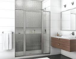 shower door and panel framed shower door with return panel