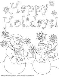 Happy Holidays Coloring Pages Collection Free Coloring Books