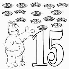 Small Picture Number 15 Coloring Page Free Download