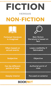 the difference between fiction and nonfiction bookriot non fiction fiction