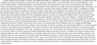 analysis of famous poems relating to ethan frome at com essay on analysis of famous poems relating to ethan frome