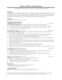 law - Financial Advisor Sample Resume