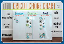 Tutorial Cricut Chore Chart V 3 0