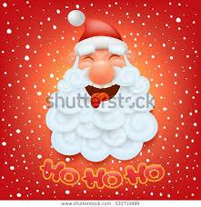 Christmas Card Template Santa Claus Head Stock Vector