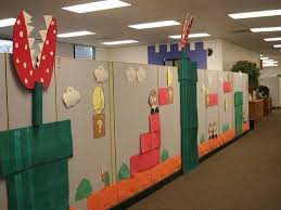 Fanciful Six Ways To Make Your Cubicle Stand Out This Halloween For  Decorate Halloween Cubicle in