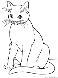 Small Picture Black And White Pictures Of Cats To Color Coloring Coloring Pages