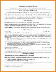 Resume For Radiologic Technologist Mesmerizing 4444 Rad Tech Resume Samples Catonavenue