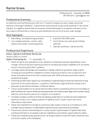 Master Electrician Resume Example