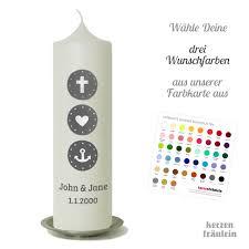 Hochzeitskerze Glaube Liebe Hoffnung In Deinen Wunschfarben