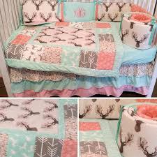adorable woodland theme crib set baby