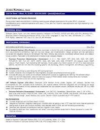 Sample Resume Software Engineer Free Resumes Tips