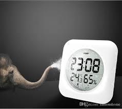2018 bathroom hang electronic digital clock waterproof temperature humidity meter weather alarm clock desktop digital table clock from famoushome