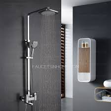 modern square brass rotate bathroom outdoor shower faucets