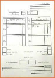 Wrestling Score Sheet | Bio Letter Sample