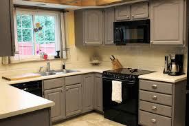 Matte Grey Kitchen Cabinet Black Glass Kitchen Appliances Matte ...