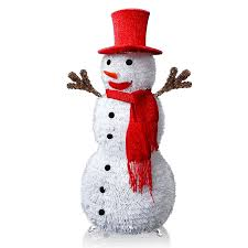 Holiday Time Light Up Led Fluffy Snowman Instructions Pop Up Christmas Collapsible Tinsel Snowman With Removable Hands Scarf 3 6ft Artificial Tinsel Xmas Tree Glitter Snowman With Plastic Stand