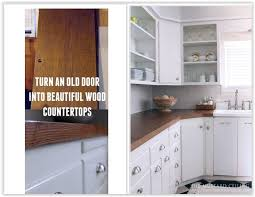 how to turn an old door into beautiful wood countertops they took three solid oak mercial grade doors turned them into beautiful wood countertops