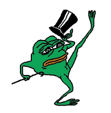 Le dancing meme frog is sad! UpPepe to make him happy again ... via Relatably.com