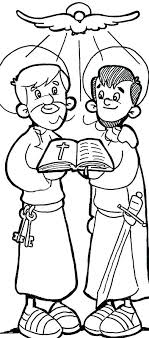 Apostle Paul Coloring Pages Coloring Pages Saint Peter And Apostle