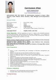 Sample Job Application Resume Resume format for Admin Jobs New Job Application Resume Template 3