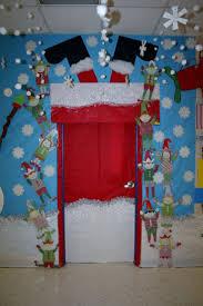 Classroom Door Designs For Christmas Santa Stuck Classroom Door Decoration Door Decorations