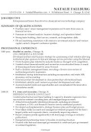 Example Resume Senior Executive Financial Services Technology ...