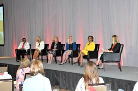 Moderator Paige Goss oversaw the 5-member panel discussion featuring:  Makisha Boothe, Denise Burgess, Polly Lawrence, Carrie Morgridge, and Laura  Roberts.