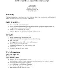 Plain Design Orthodontic Assistant Resume Resume Awful Orthodontist