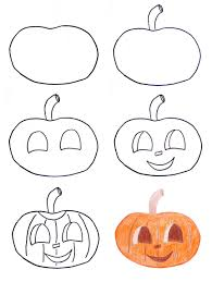 pumpkin drawing. full size of coloring page:cute how to draw pumpkin halloween step 0 page drawing